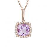 **NEW**      Pink Amethyst and Diamond Necklace