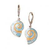 Sterling Nautilus Earrings