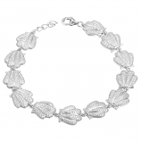 Sterling Sunrise Shell Bracelet