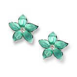 Sterling Stephanotis Flower Earrings