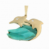 Dolphin Chrysocolle Pendant