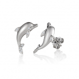 Sterling Dolphin Earrings