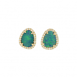 Diamond and Opal Earrings
