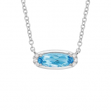 **NEW** Swiss Blue Topaz Necklace