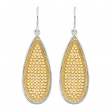 Sterling and Vermeil Teardrop Earrings