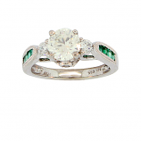 Estate Diamond and Emerald Ring