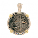 Spanish Silver Cob Coin Pendant -4 Reales