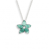 Sterling Stephanotis Flower Necklace